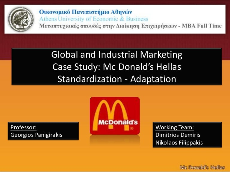 standardisation or adaptation for businesses Global standardization in marketing is a standardized marketing approach that can be used internationally this type of marketing strategy conforms to work across different cultures and countries.