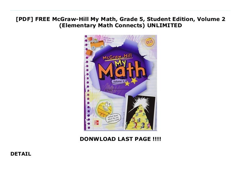 PDF FREE McGraw-Hill My Math, Grade 5, Student Edition ...