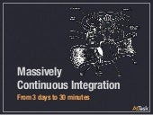 Massively Continuous Integration: From 3 days to 30 minutes