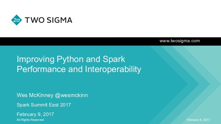 Improving Python and Spark (PySpark) Performance and