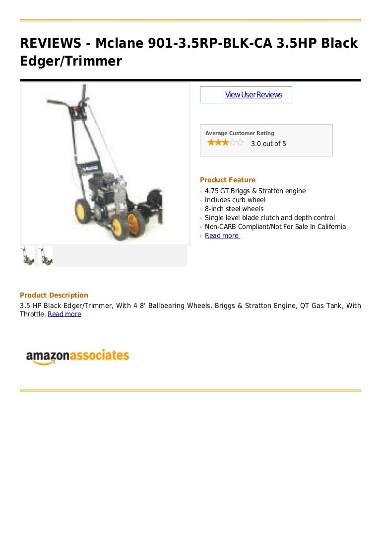 Mclane 901 35 Rp Blk Ca 35hp Black Edger Trimmer Have A 145 Horsepower Briggs And Stratton Engine That Was