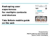 MCN 2013 Tate mobile guide on the web