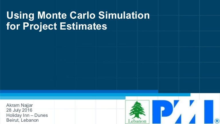 Monte Carlo Simulation For Project Estimates V