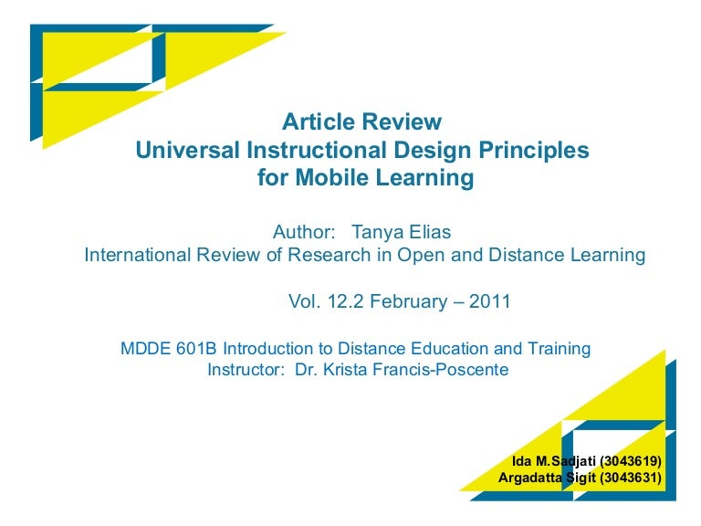 Uid For Mobile Learning
