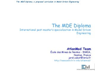 MDE Diploma