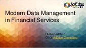 Modern Data Management  in Financial Services