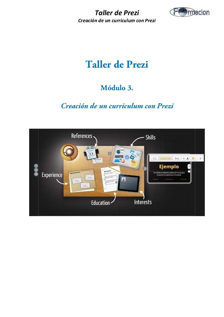 Creación de un curriculum con prezi (Prezume)