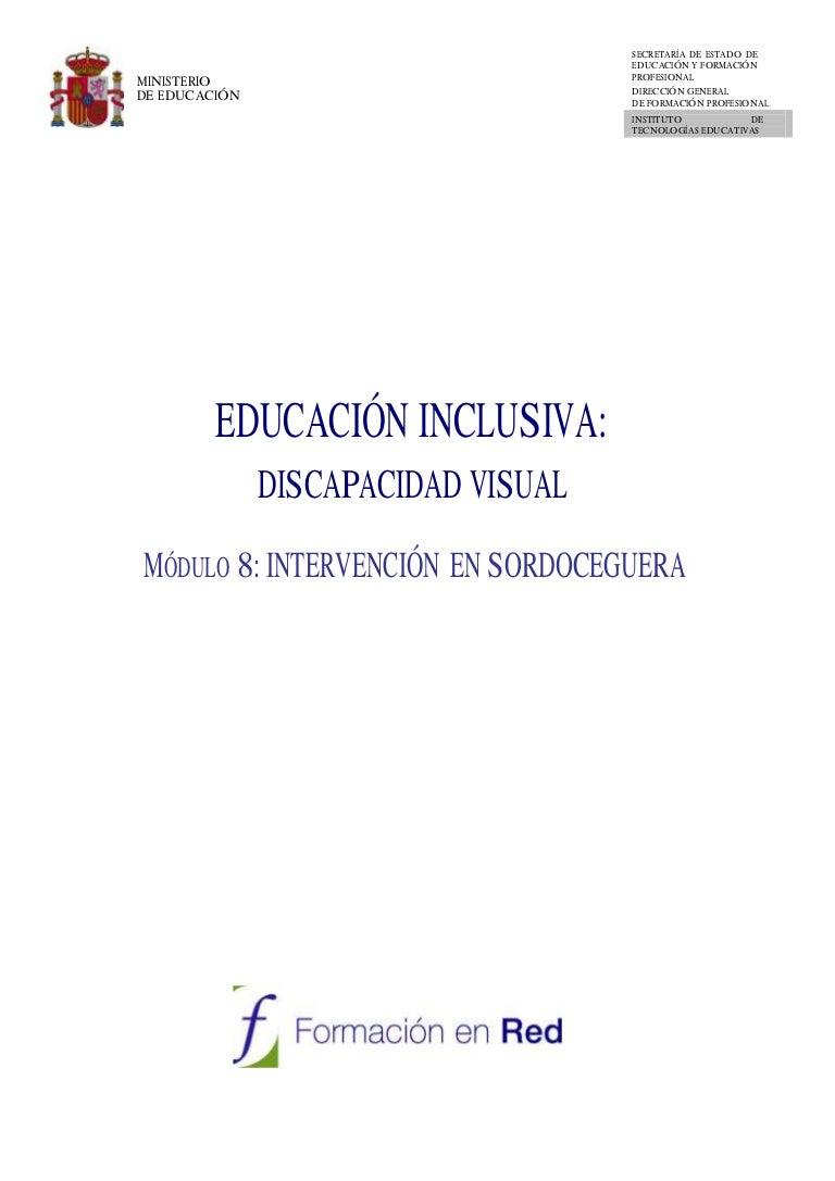 Educación En… InclusivaDiscapacidad Viii VisualMódulo Intervención I6vbfy7mYg
