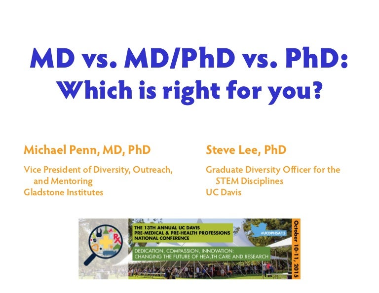 Md Vs Md Phd Vs Phd 2015 Slides Handout