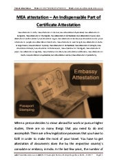 Mea attestation – an indispensable part of certificate attestation