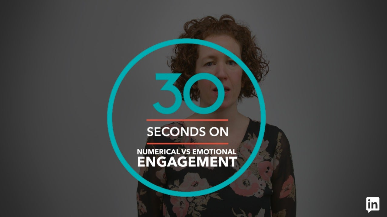 '30 Seconds On'  Numerical vs Emotional Engagement