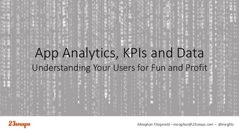 Analytics, Data Tracking and KPIs for Mobile App