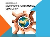Meaning of environmental geography
