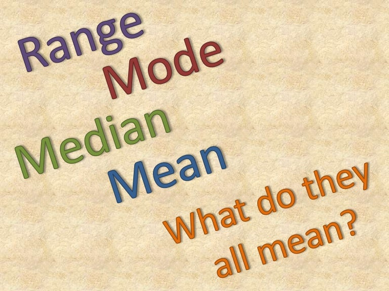 Mean, Median, Mode: Measures of Central Tendency