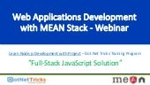 Web Applications Development with MEAN Stack