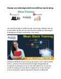 Mean stack training institute in kolkata converted