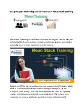Mean stack training institute in kolkata converted