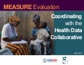 Coordinating with the Health Data Collaborative