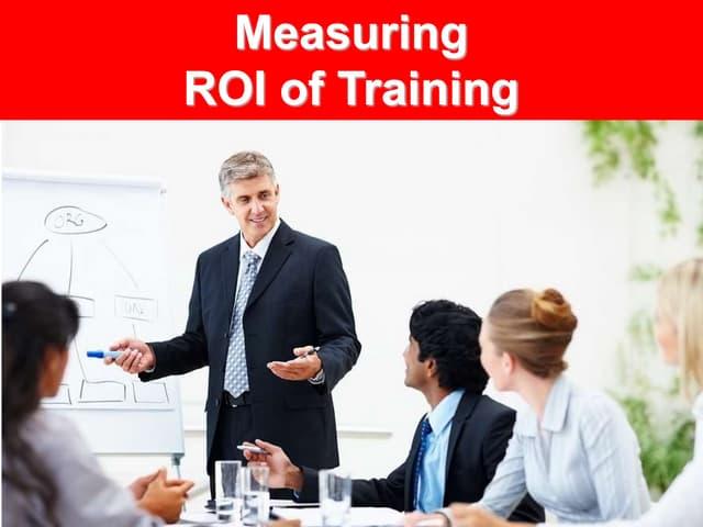 Measuring roi of training ppt slides