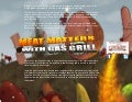 Meat matters with gas grill