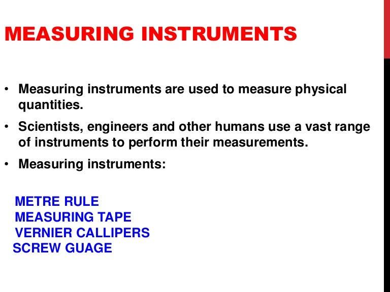Measuring Instruments Ppt