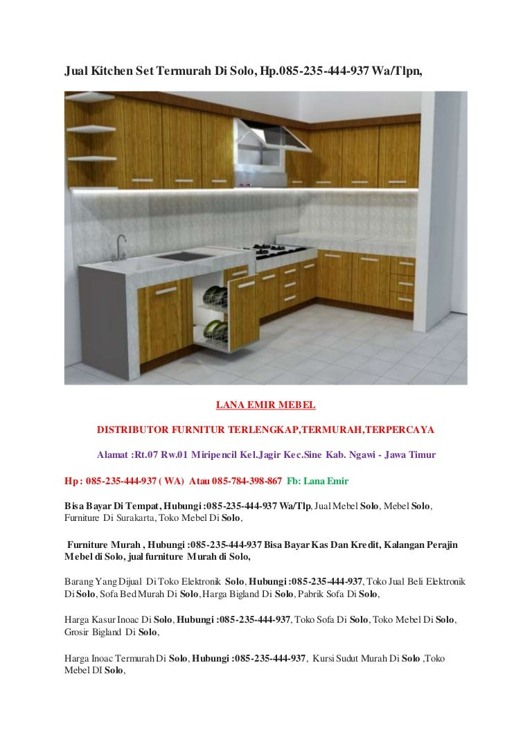 Jjual kitchen set termurah di solo hp 085 235 444 937 wa tlpn