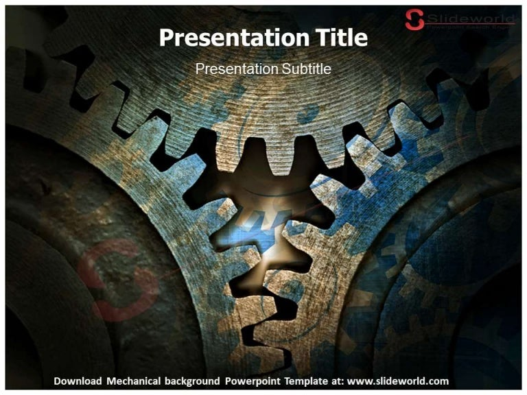 Engineering presentation powerpoint template brettfranklin mechanical background powerpoint template presentation templates toneelgroepblik Images