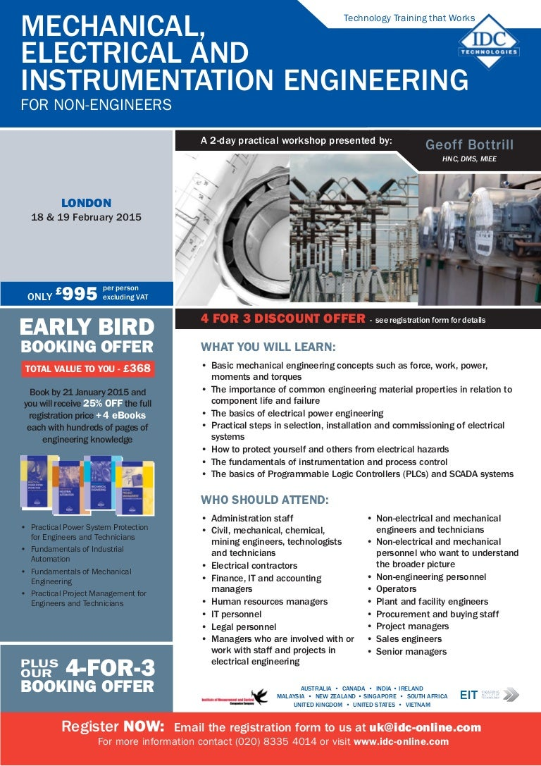 Mechanical electrical instrumentation engineering for non engineers solutioingenieria Choice Image