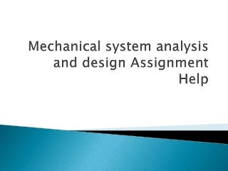 System analysis and design assignment