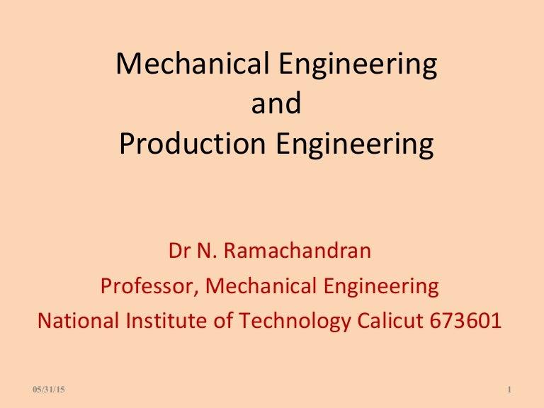 intrduction to mechanical  u0026 productioech engg ramachandran