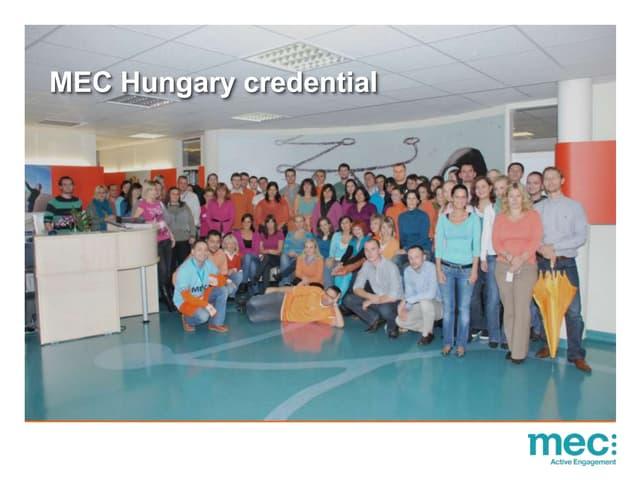 MEC Hungary credentials