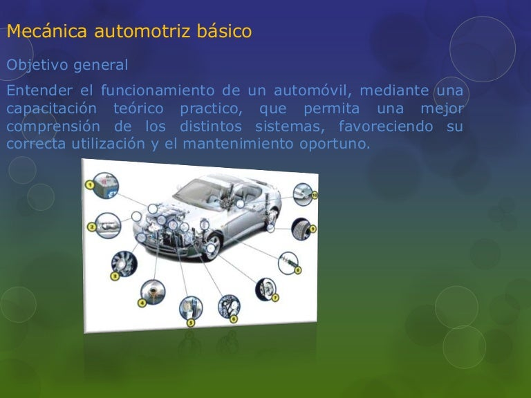 Mecánica automotriz básico documento de 10 diapositivas