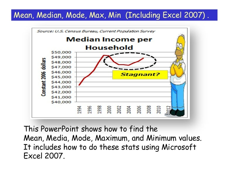 Median mean mode excel 2007 ccuart Gallery