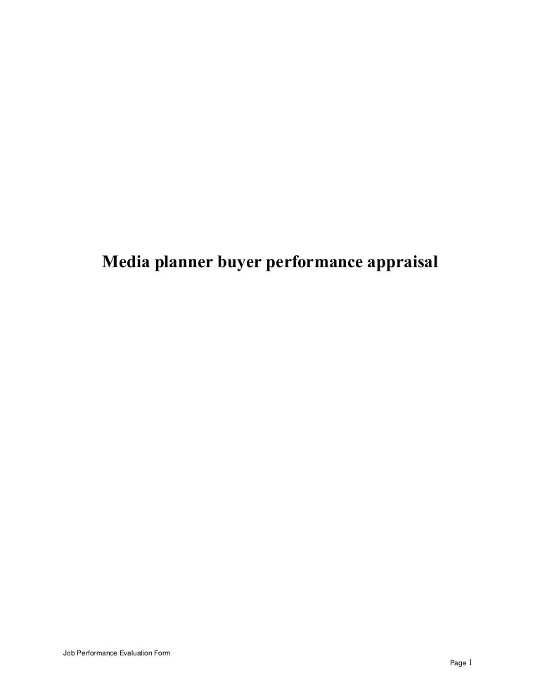 mediaplannerbuyerperformanceappraisal150512071715lva1app6892thumbnail4jpgcb 1431417494 – Media Planner Job Description