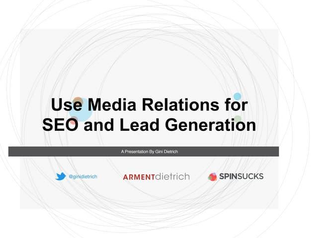 Media Relations for SEO