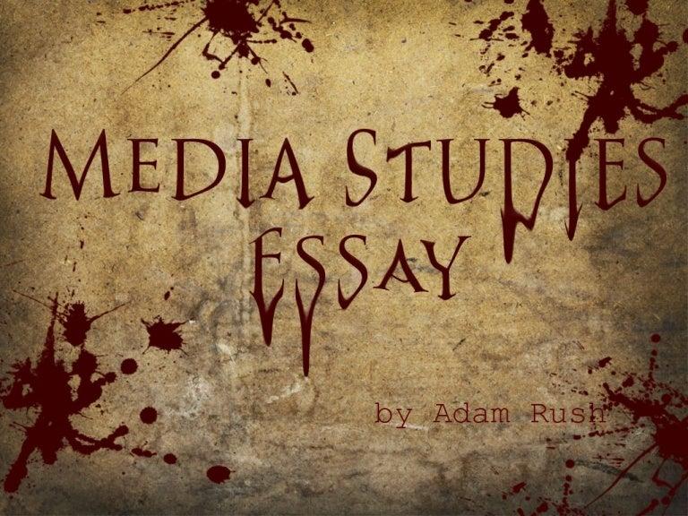 media studies essay