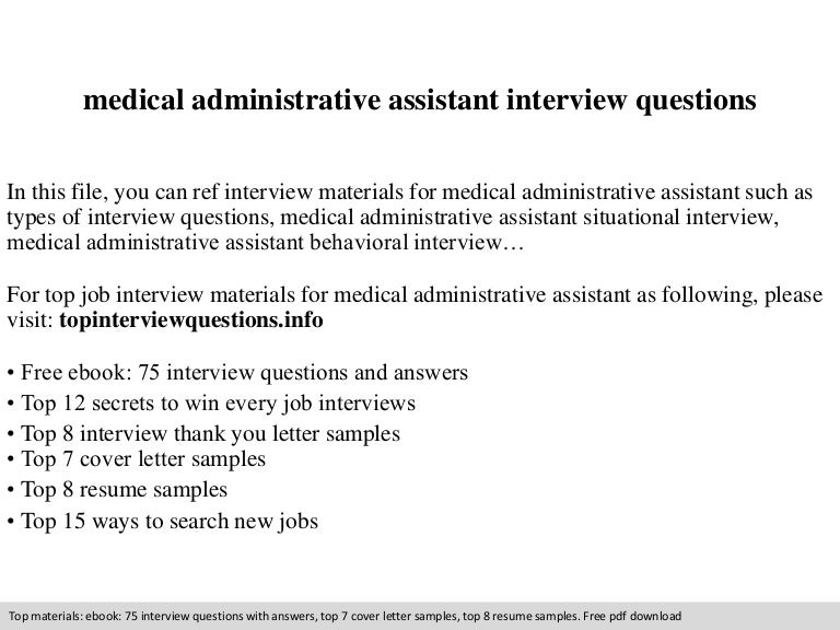 medical administrative assistant interview questions - Physician Assistant Interview Questions For Physician Assistants With Answers