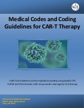 Medical Codes and Coding Guidelines for CAR-T Therapy