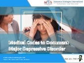 Medical Codes to Document Major Depressive Disorder