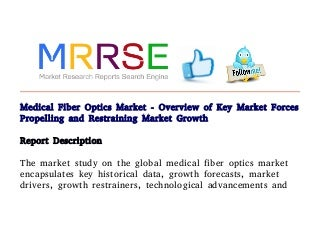 medical fiber optics market overview of key market forces propelling and restraining market growth