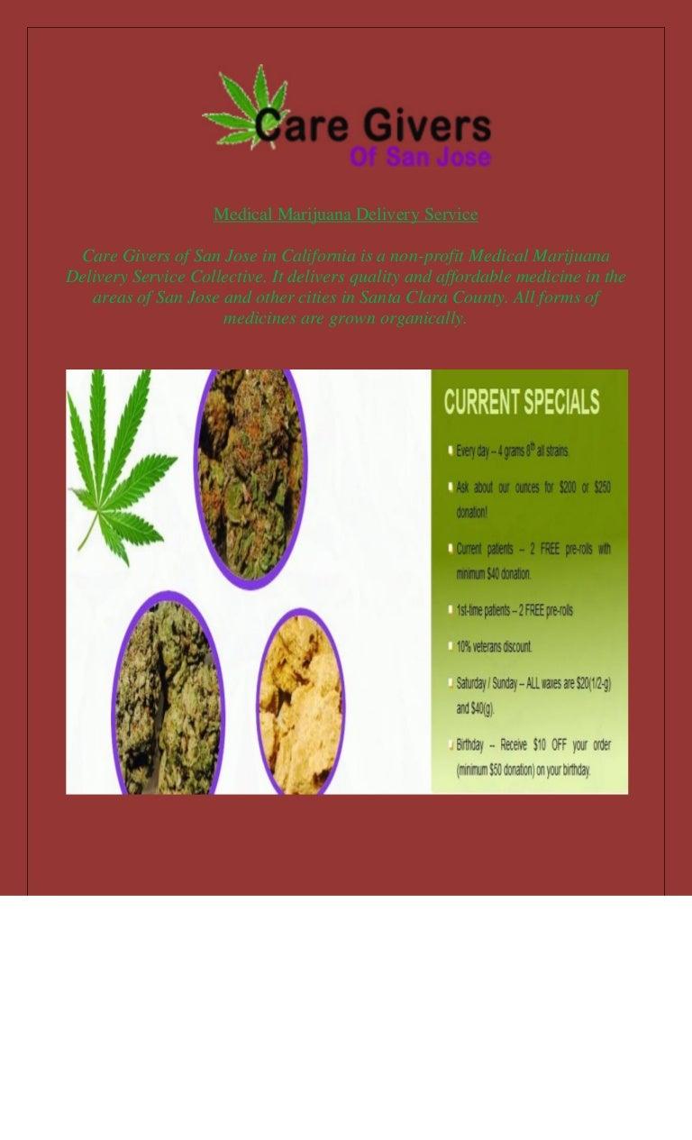 Medical marijuana delivery service