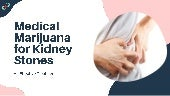 Medical marijuana for kidney stones  an effective treatment