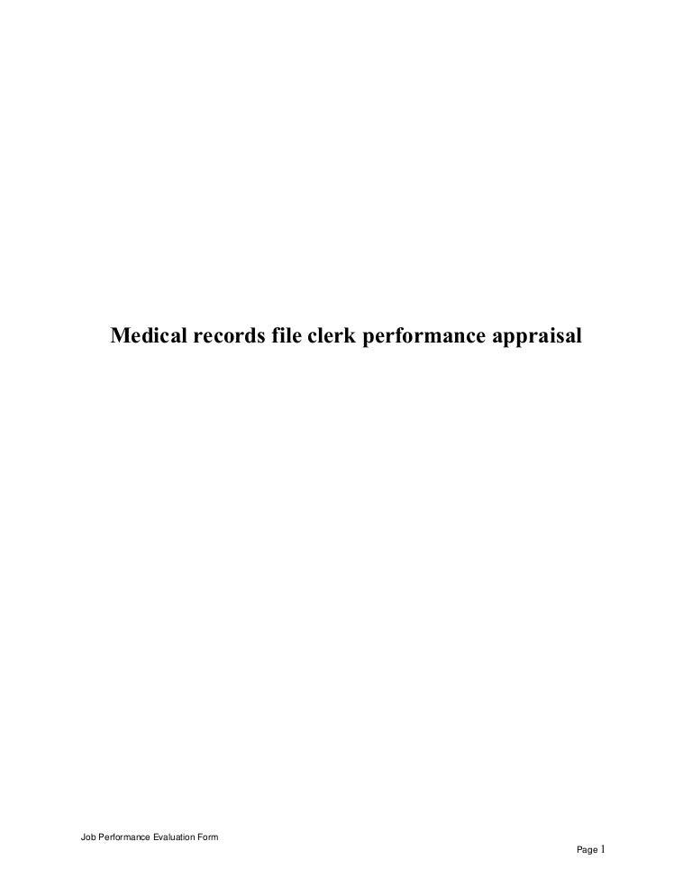 Medicalrecordsfileclerkperformanceappraisal-150602070415-Lva1-App6891-Thumbnail-4.Jpg?Cb=1433228701
