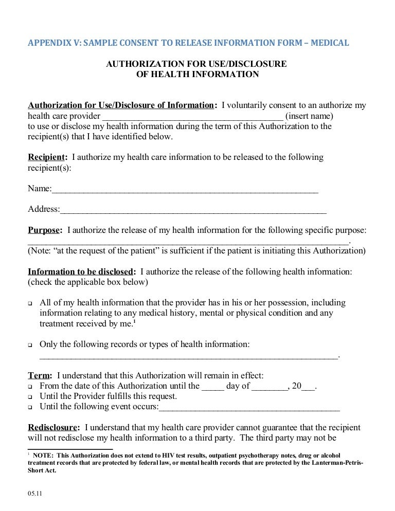 medical release authorization
