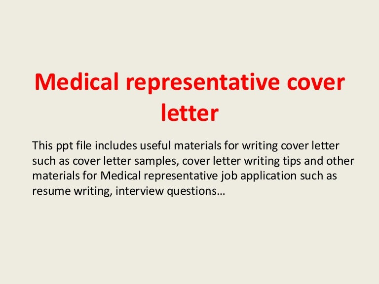 Medical Sales Rep Cover Letter. 20 Sales Rep Cover ...