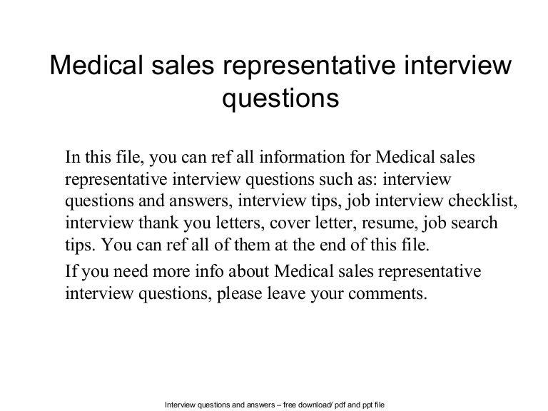 medicalsalesrepresentativeinterviewquestions 140613065014 phpapp01 thumbnail 4jpgcb1402642247 medical sales representative jobs