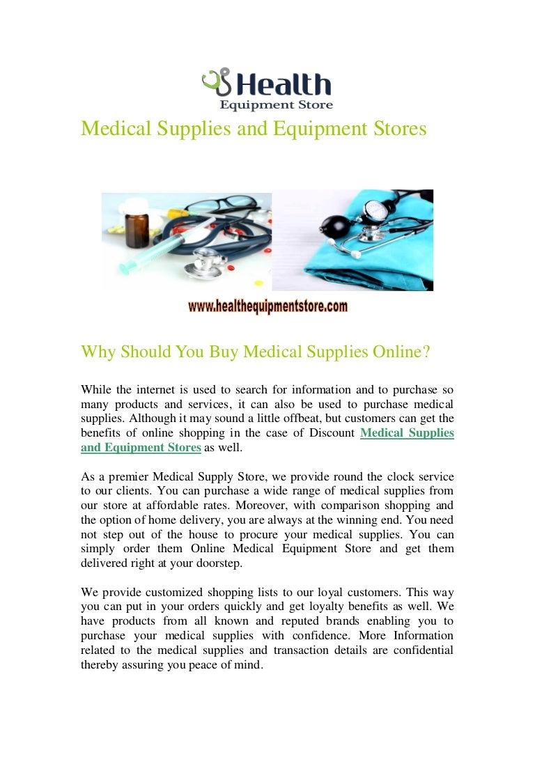 Where do you buy medical supplies 46