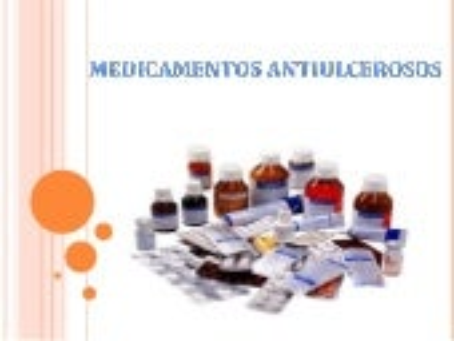 Medicamentos antiulcerosos