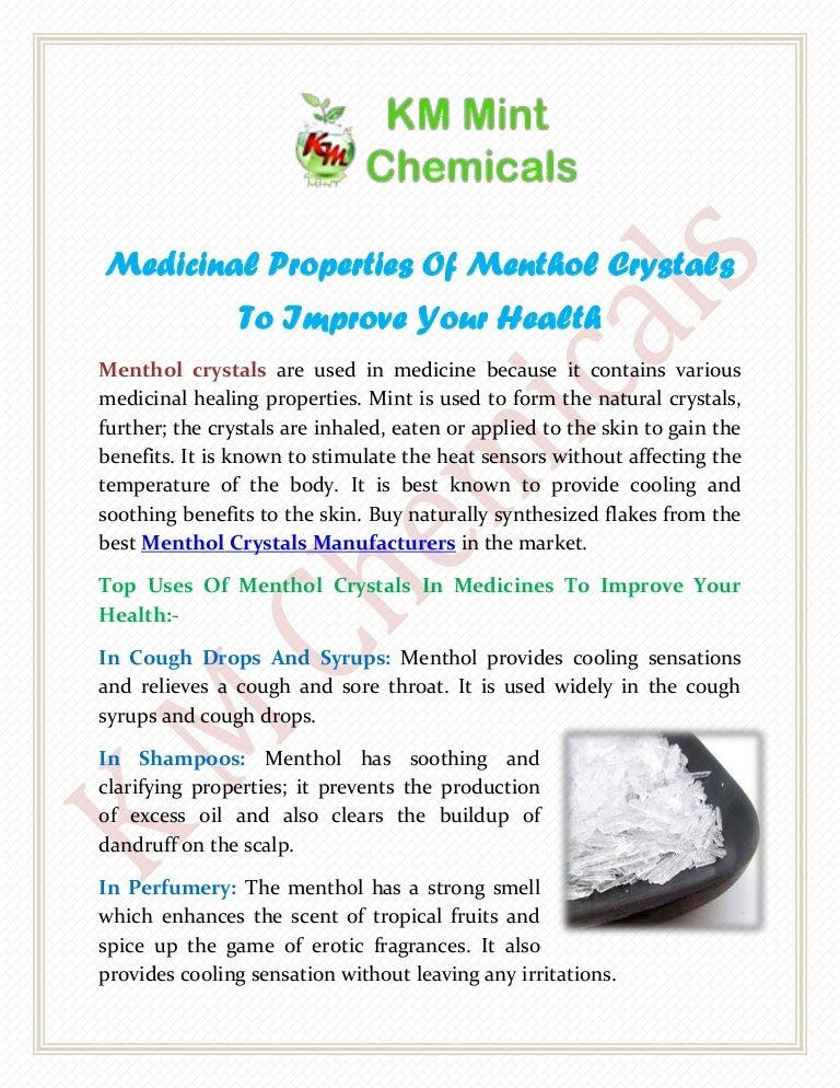 Benefits of Menthol, Uses of Menthol, Health Benefits