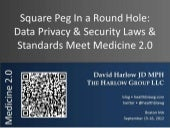 Square Peg in a Round Hole: Data Privacy & Security Laws & Standards Meet Medicine 2.0
